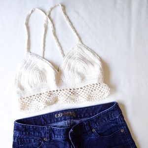 American Eagle Knitted Crop Top Size S